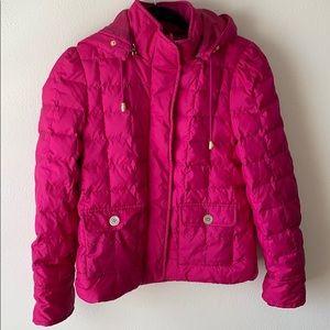 Juicy Couture Pink Down Puffer Jacket